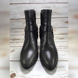 Saint Laurent Shoes - Saint Laurent Boot Grey Harness Ankle Booties 37.5
